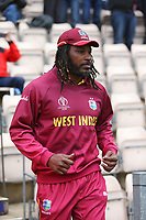 Cricket - 2019 ICC Cricket World Cup - Group Stage: South Africa vs. West Indies<br /> <br /> Chris Gayle of the West Indies takes to the field at the Hampshire Bowl, Southampton.<br /> <br /> COLORSPORT/SHAUN BOGGUST