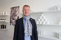 © London News Pictures. 15/05/15. London, UK. Michal Takac, MD of Carun UK is photographed in the UK's first cannabis pharmacy, Twickenham, West London. Carun UK, which will be based in Twickenham, London, aims to 'harness the healing super-powers of hemp' which is claims is the 'ultimate skin saviour and well-being booster'.<br />