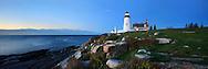 Pemaquid Point Lighthouse In Pre Dawn Light, Bristol, Maine