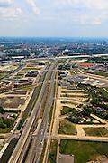 Nederland, Utrecht, Leidsche Rijn, 03-05-2011; Spoorlijn met station Utrecht Terweide. New district with new railway station..luchtfoto (toeslag), aerial photo (additional fee required).copyright foto/photo Siebe Swart
