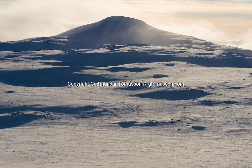 Mt. Bláfell 1011m. Tindfjöll mountain range, Iceland.