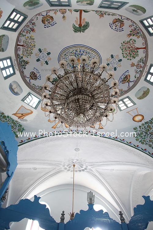 Interior of the Abohav Synagogue, Safed, Upper Galilee, Israel