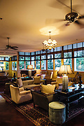 Lobby lounge and bar at Raffles Grand Hotel d'Angkor, Siem Reap