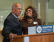Retirement reception for Houston ISD Board of Education trustee Larry Marshall, December 12, 2013.