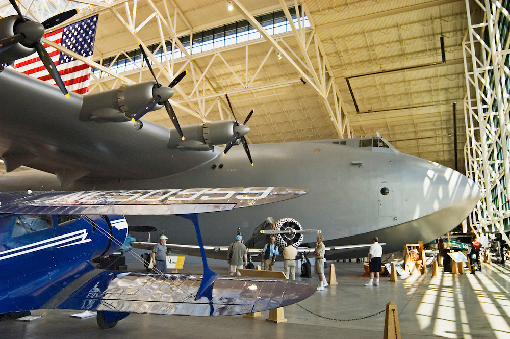 Howard Hughs' Spruce Goose jumbo airplane at the Evergreen Aviation Museum in McMinnville, Oregon.