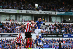 James Norwood of Ipswich Town wins a header - Mandatory by-line: Arron Gent/JMP - 10/08/2019 - FOOTBALL - Portman Road - Ipswich, England - Ipswich Town v Sunderland - Sky Bet League One