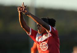 Jade Boho Sayo of Bristol Academy celebrates her goal - Mandatory byline: Dougie Allward/JMP - 07966386802 - 27/08/2015 - FOOTBALL - Stoke Gifford Stadium -Bristol,England - Bristol Academy Women FC v Oxford United Women - FA WSL Continental Tyres Cup