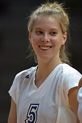 30 September 2006: Bulldog Chelsea Lauersdorf. The Drake Bulldogs opened the match with a decisive win in the 1st game, but struggled in the next 3.  The Illinois State Redbirds took the match 3 games to 1.The match took place at Redbird Arena on the campus of Illinois State University in Normal Illinois.