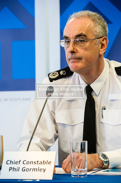 Pictured: Chief Constable Phil Gormley<br /> <br /> At Police Scotland HQ at Fettes Row in Edinburgh today , Chief Constable Phil Gormley and Scottish Police Authority (SPA) Chairman Andrew Flanagan launched a long-term strategy for policing and a public consultation to help shape it.  <br /> <br /> Ger Harley | EEm 27 February 2017