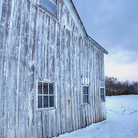 Barn in winter at Grant Park Centerville Ohio
