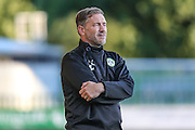 Forest Green Rovers assistant manager, Scott Lindsey during the Pre-Season Friendly match between Forest Green Rovers and Cardiff City at the New Lawn, Forest Green, United Kingdom on 13 July 2016. Photo by Shane Healey.