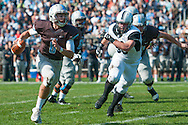 10/10/15 – Medford/Somerville, MA – Tufts WR Joseph Nault, E18, evades a Bowdoin defender in the homecoming game on Saturday, Oct. 10, 2015. (Evan Sayles / The Tufts Daily)