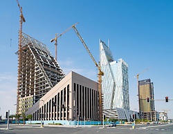 Construction of new town at City City in Doha, Qatar