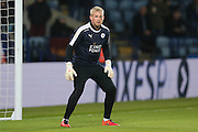 Leicester City goalkeeper Kasper Schmeichel (1)  during the Barclays Premier League match between Leicester City and Newcastle United at the King Power Stadium, Leicester, England on 14 March 2016. Photo by Simon Davies.