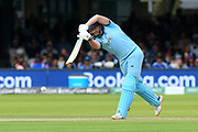 Jonny Bairstow of England drives the ball during the ICC Cricket World Cup 2019 Final match between New Zealand and England at Lord's Cricket Ground, St John's Wood, United Kingdom on 14 July 2019.