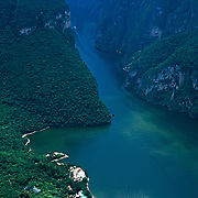 Aerial view of Sumidero canyon. Chiapas, Mexico.