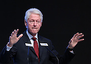 BEIJING, CHINA - NOVEMBER 18: (CHINA OUT) <br /> <br /> Former US president Bill Clinton delivers a speech during the closing ceremony of China Philanthropy Forum 2013 at China World Hotel on November 18, 2013 in Beijing, China. Clinton met with China\'s President Xi Jinping in Beijing on Monday and voiced support for Chinas new economic reforms<br /> ©Exclusivepix
