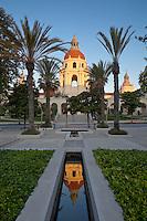 Euclid Avenue Sunrise View of Pasadena City Hall, Pasadena, California
