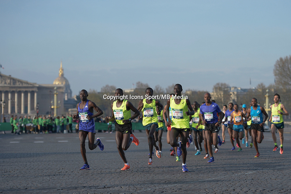 Illustration peloton - 12.04.2015 - Marathon de Paris 2015<br />Photo :  Andre Ferreira  / Icon Sport