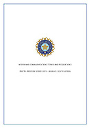 BCCI Media guidelines