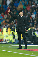 Atletico de Madrid´s coach Diego Pablo Simeone during Spanish King´s Cup match at Santiago Bernabeu stadium in Madrid, Spain. January 15, 2015. (ALTERPHOTOS/Victor Blanco)