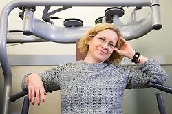 Nina Korinšek, novinarska Siol.net, TSmedia<br /> // Hana Verdev, Personal Trainer during presentation of fitness exercises, on October 20, 2016 in Sunny Studio, Ljubljana, Slovenia. Photo by Vid Ponikvar / Sportida