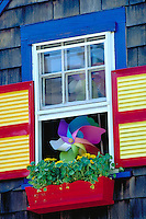 Flower box located in Boothbay, Maine