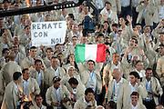 Atene 2004: Cerimonia d'apertura allo stadio olimpico.<br /> foto elio castoria