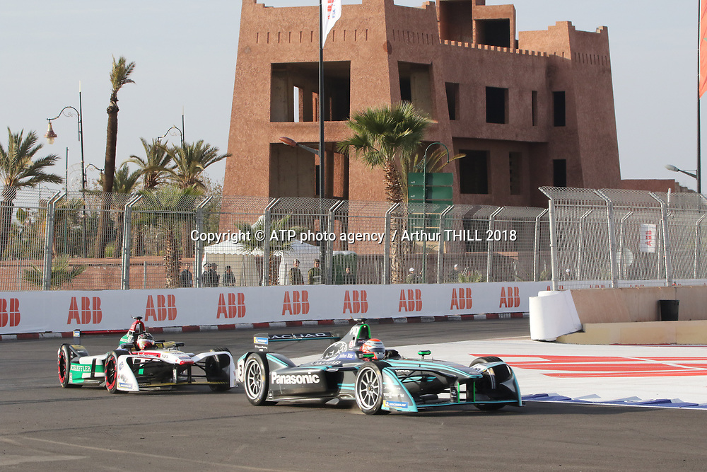 3, Nelson Piquet Jr. (BRA) - Panasonic Jaguar Racing, Jaguar I-Type 2<br /> E-Prix, FIA Formula E, Formula E Grand Prix in Marrakesh, Morocco on 13 January 2018. Circuit International Automobile Moulay El Hassan -  Formel E, Elektro e-prix Autorennen, Marrakesch, Marokko, Maroc, <br /> fee liable image, copyright@ ATP Arthur THILL