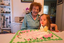 Grandma Delores Nitz, 90th birthday in Franklin, Wisconsin, May 29, 2016.
