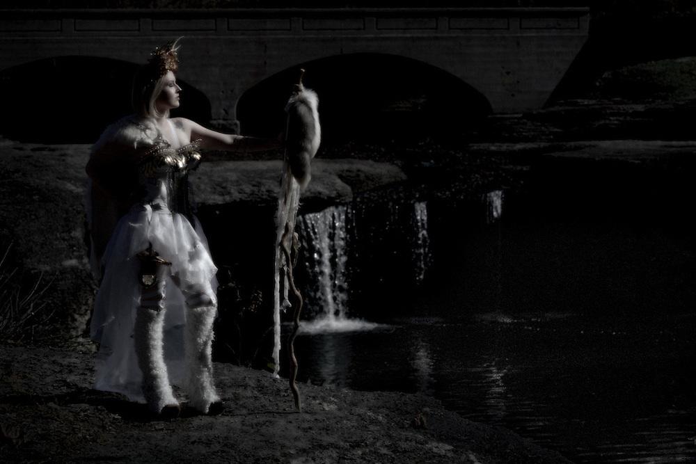 Fine art portrait shot on film of Serynne Evans as the Goblin Queen by Kansas City Photographer Kirk Decker.