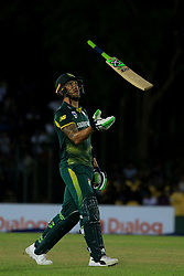 August 1, 2018 - Dambulla, Sri Lanka - South African cricket captain Faf Du Plessis tosses the bat following his dismissal  during the 2nd One Day International cricket match between Sri Lanka and South Africa at Rangiri Dambulla International Stadium, Dambulla, Sri Lanka on Wednesday 1st August 2018  (Credit Image: © Tharaka Basnayaka/NurPhoto via ZUMA Press)