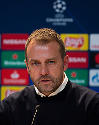 MUNICH, GERMANY - Wednesday, December 11, 2019: Bayern Munich's head coach Hans-Dieter Flick during the post-match press conference after the final UEFA Champions League Group B match between FC Bayern München and Tottenham Hotspur FC at the Allianz Arena. Bayern Munich won 3-1. (Pic by David Rawcliffe/Propaganda)
