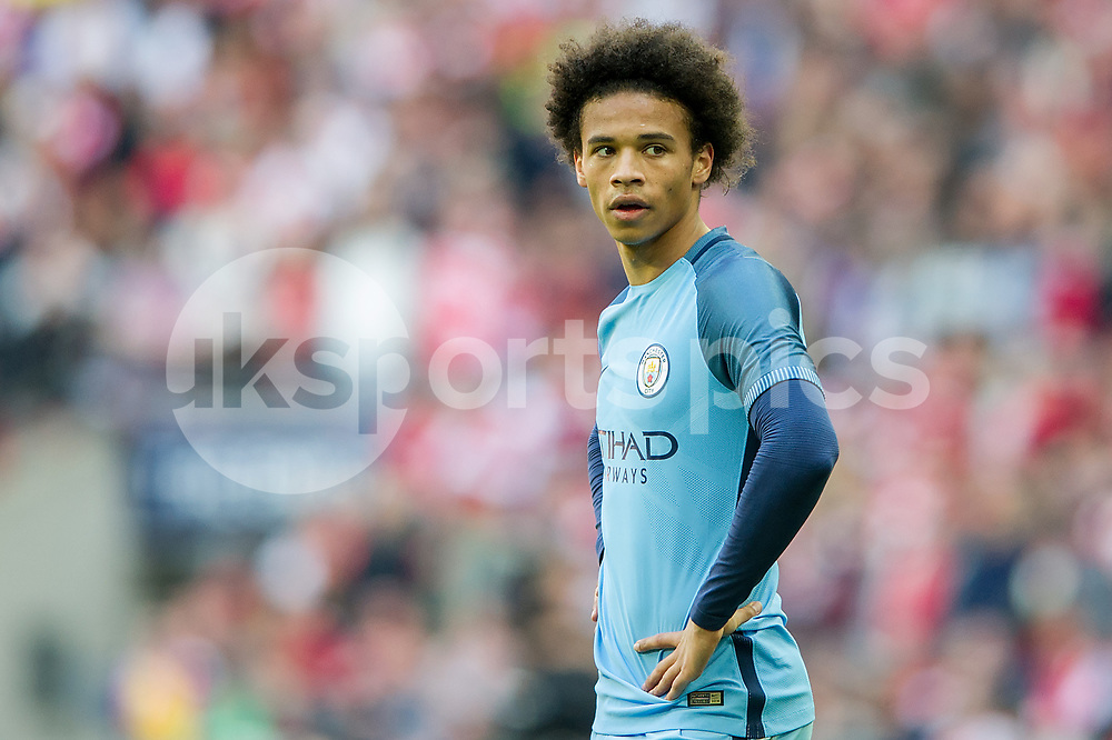 Leroy Sané of Manchester City during the The FA Cup Semi Final match between Arsenal and Manchester City at Wembley Stadium, London, England on 23 April 2017. Photo by Salvio Calabrese.