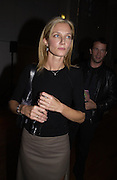 Joely Richardson. Julian Macdonald fashion show. Science Museum. London. 20 September 2001. © Copyright Photograph by Dafydd Jones 66 Stockwell Park Rd. London SW9 0DA Tel 020 7733 0108 www.dafjones.com