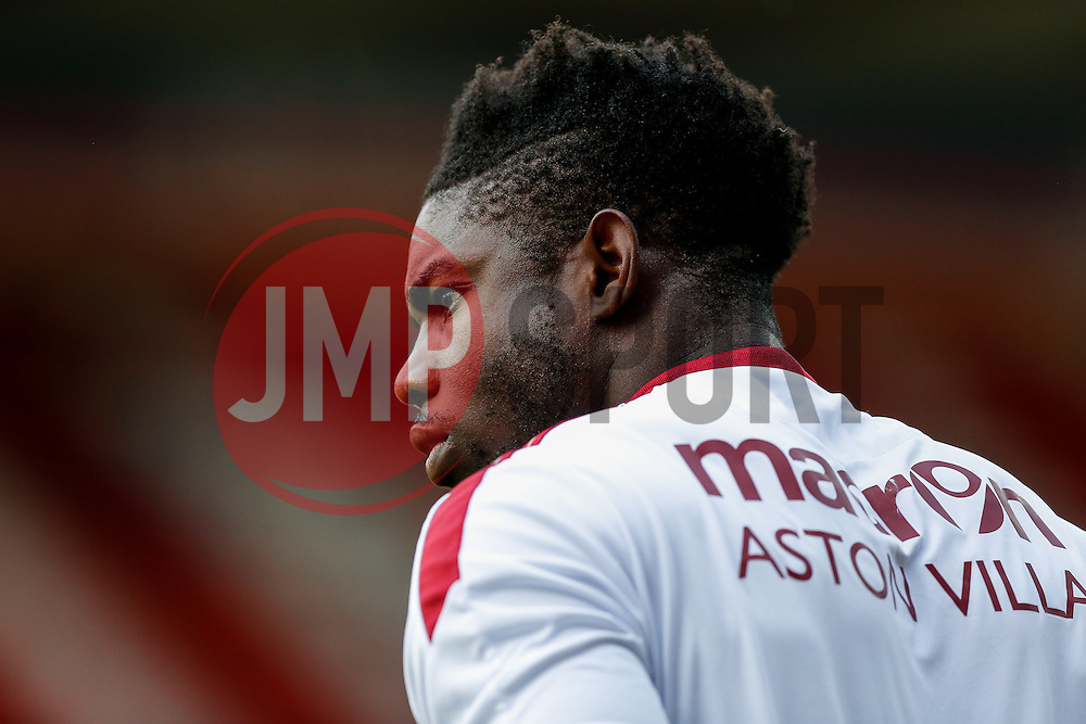 Micah Richards of Aston Villa looks on - Mandatory byline: Rogan Thomson/JMP - 07966 386802 - 21/07/2015 - SPORT - Football - Swindon, England - The County Ground - Swindon Town v Aston Villa - 2015/16 Pre Season Friendly.