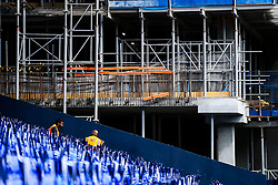 Old meets new inside White Hart Lane with preperations underway before the final game at the stadium before it's closure for demolition and redevelopment - Rogan Thomson/JMP - 14/05/2017 - FOOTBALL - White Hart Lane - London, England - Tottenham Hotspur v Manchester United - Premier League.