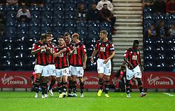 Shaun MacDonald of Bournemouth celebrates after scoring the opening goal   - Mandatory byline: Matt McNulty/JMP - 07966386802 - 22/09/2015 - FOOTBALL - Deepdale Stadium -Preston,England - Preston North End v Bournemouth - Capital One Cup - Third Round