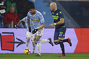 Foto LaPresse/Filippo Rubin<br /> 26/12/2018 Ferrara (Italia)<br /> Sport Calcio<br /> Spal - Udinese - Campionato di calcio Serie A 2018/2019 - Stadio &quot;Paolo Mazza&quot;<br /> Nella foto: ANDREA PETAGNA (SPAL) VS BRAM NUYTINCK (UDINESE)<br /> <br /> Photo LaPresse/Filippo Rubin<br /> December 26, 2018 Ferrara (Italy)<br /> Sport Soccer<br /> Spal vs Udinese - Italian Football Championship League A 2018/2019 - &quot;Paolo Mazza&quot; Stadium <br /> In the pic: ANDREA PETAGNA (SPAL) VS BRAM NUYTINCK (UDINESE)