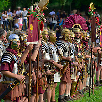 Otricoli 32 AD - Re-enactment of an imperial  roman military camp near the small village of Otriculum (Lazio) as it may have been in the year 32 CE.