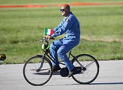 06.09.2015, Airbase, Rivolto, ITA, Payerne, Flugshow anlässlich des 55. Geburtstag der Frecce Tricolori, im Bild Frecce Tricolori // during the Airshow on the occasion of the 55th anniversary of the Frecce Tricolori at the Airbase in Rivolto, Italy on 2015/09/06. EXPA Pictures © 2015, PhotoCredit: EXPA/ Eibner-Pressefoto/ Neurohr<br /> <br /> *****ATTENTION - OUT of GER*****