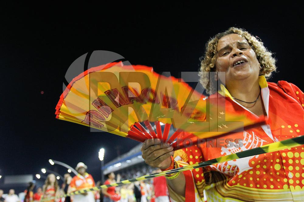 SÃO PAULO,SP, 24.01.2016 - CARNAVAL-SP - Integrantes da escola de samba Tom Maior durante ensaio técnico do Carnaval 2016, no sambódromo do Anhembi região norte de São Paulo neste domingo, 24. (Foto: Douglas Pingituro / Brazil Photo Press)