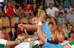 Barbara Varlec of Slovenia at handball game between women national teams of Slovenia and Belorussia, second qualification game for the European Chamionship 2009, on June 7, 2008, in Arena Zlatorog, Celje, Slovenija. Win of Belorussia, who qualified for EC 2009 in Macedonia. (Photo by Vid Ponikvar / Sportal Images)