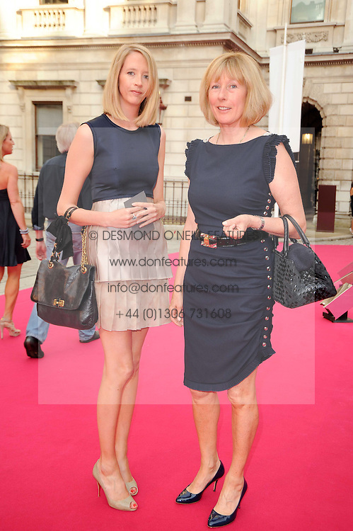 Left to right, the HON.FLORA HESKETH and her mother LADY HESKETH at the Royal Academy of Arts Summer Party held at Burlington House, Piccadilly, London on 9th June 2010.