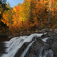 Landscape photography images of this glorious waterfall autumn scenery at Profile Falls in New Hampshire are available as museum quality photography prints, canvas prints, acrylic prints or metal prints. Prints may be framed and matted to the individual liking and decorating needs:<br />