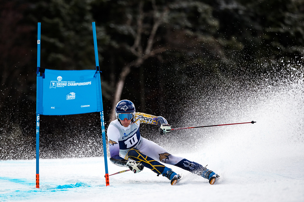 Morten Bakke of Montana State University<br /> Giant Slalom<br /> NCAA Skiing Championships<br /> New Hampshire<br /> March 8, 2017
