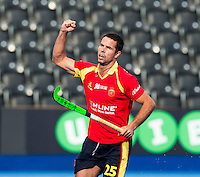 LONDON -  Unibet Eurohockey Championships 2015 in  London. 05 Spain v Russia. Spanish Pau Quemada scored (pc).   WSP Copyright  KOEN SUYK