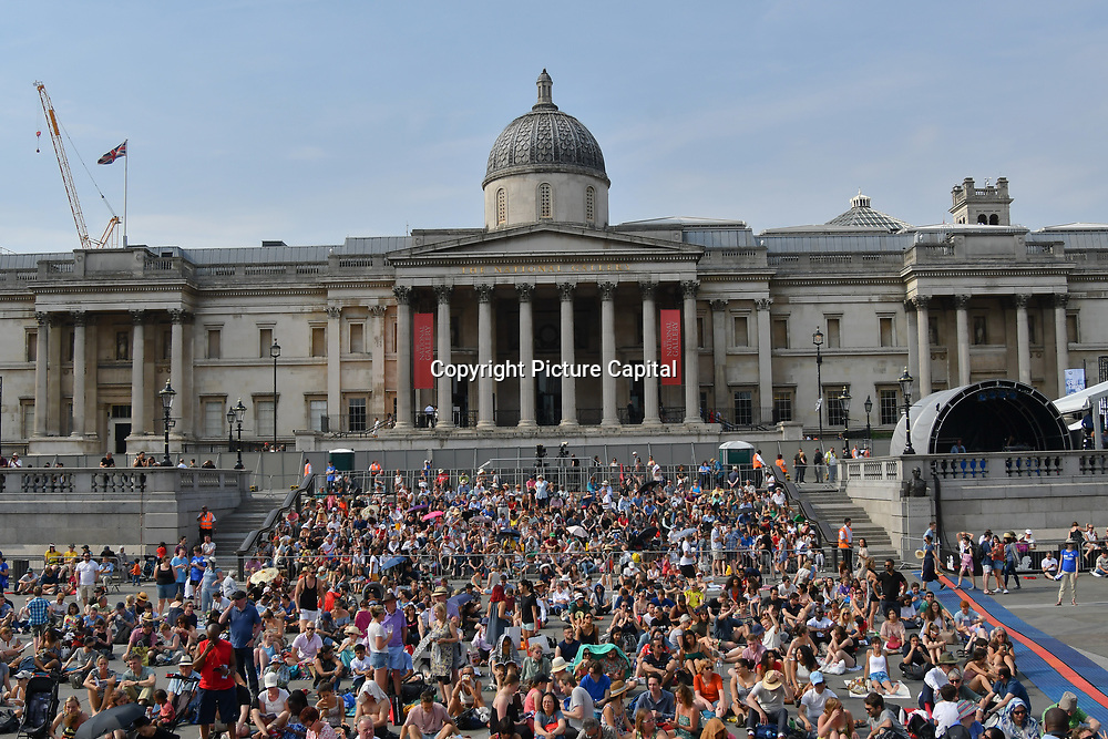 Hundreds attended the BMW Classics + live streamed on YouTube in Trafalgar Square on a hot weather in London, UK on July 1st 2018.
