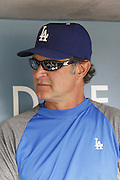 LOS ANGELES, CA - JULY 18:  Don Mattingly #8 manager of the Los Angeles Dodgers talks to the media before the game against the Philadelphia Phillies on Wednesday, July 18, 2012 at Dodger Stadium in Los Angeles, California. The Dodgers won the game 5-3 in 12 innings. (Photo by Paul Spinelli/MLB Photos via Getty Images) *** Local Caption *** Don Mattingly