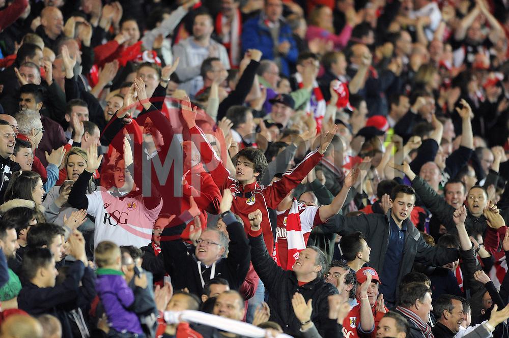 Bristol City fans - Photo mandatory by-line: Dougie Allward/JMP - Mobile: 07966 386802 - 07/04/2015 - SPORT - Football - Bristol - Ashton Gate - Bristol City v Swindon Town - Sky Bet League One